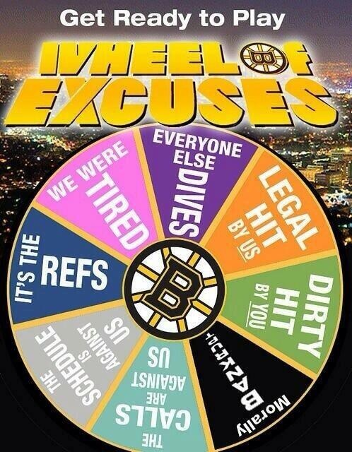 boston bruins wheel of excuses funny boston bruins jokes and funny pictures habsnews ca